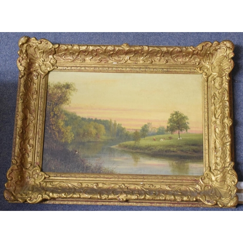 722 - Attributed to George Alexander (1832-1913), Hurworth on Tees, oil on canvas, inscribed label verso, ...