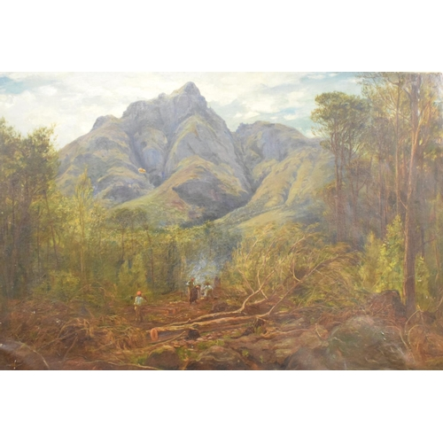 724 - William Henry Simpson, woodland clearance, South Africa, oil on canvas, signed, 60.5 x 92 cm...