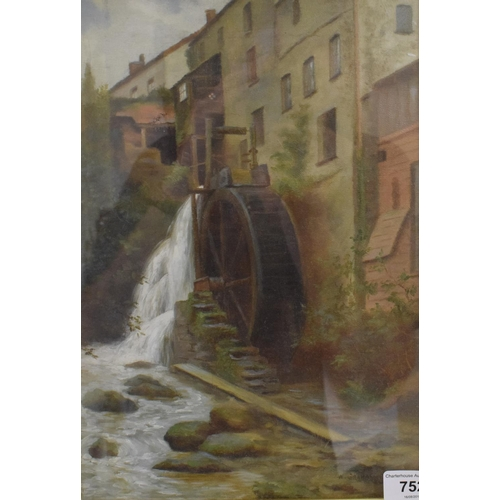752 - William Graham Buckstone (1858-1926), the waterwheel, oil on canvas, signed and dated 1888, 31 x 22 ...