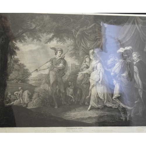 771 - A set of four engravings after Thomas Kirk, various Shakespeare scenes (4)...