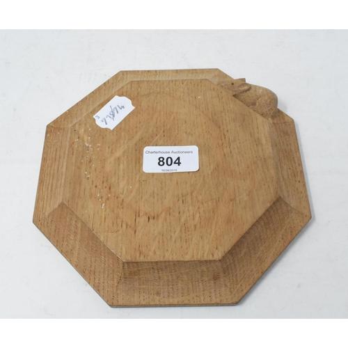 804 - A Robert Mouseman Thompson style octagonal stand, 18.5 cm diameter...