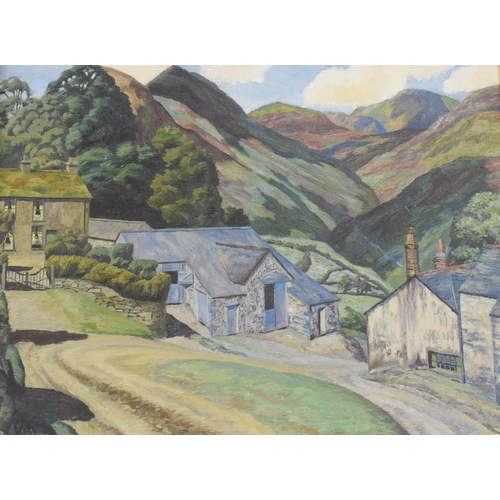 823 - Arthur Henry Andrews, a lake district farm, oil on canvas, signed, 45 x 60 cm...