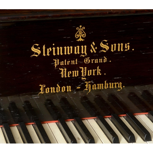 857 - A Steinway grand piano, in a rosewood case, 51616, c.1884 See inside front cover colour illustration...