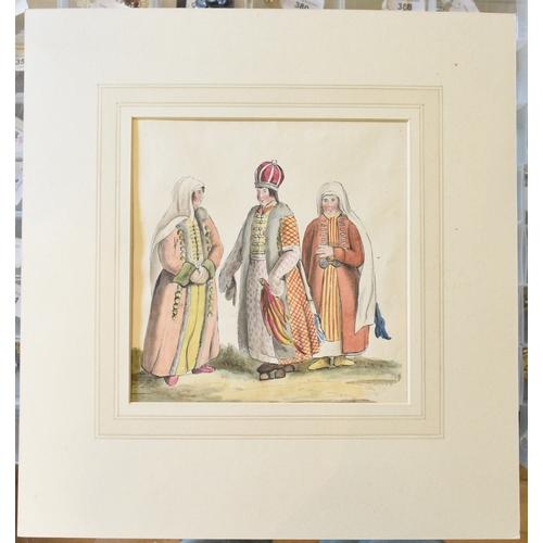 740 - Russian school, seven assorted watercolour studies for costume designs (7)...