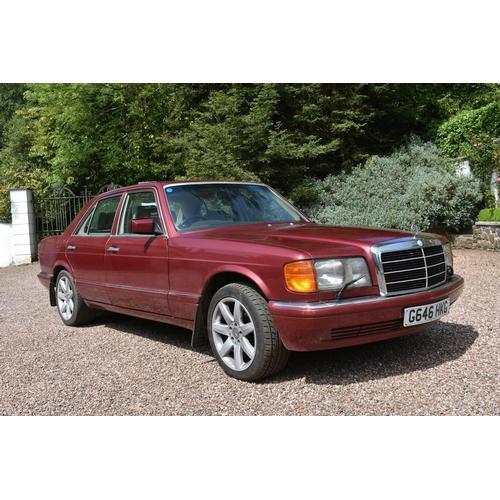 1 - A 1990 Mercedes-Benz 420 SE saloon, registration number G646 HKG, Almandine metallic red. This 420SE...