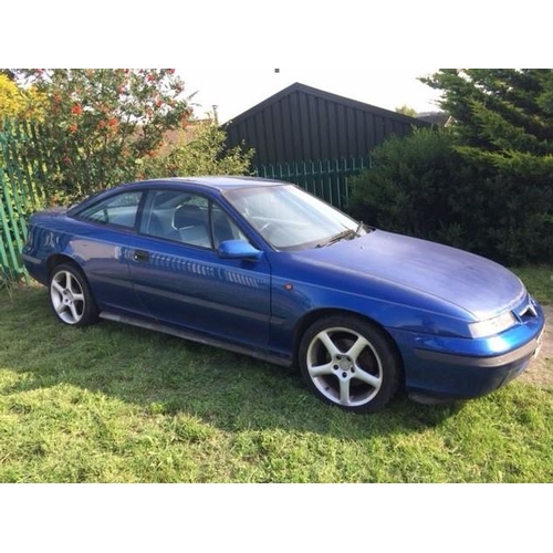 10 - A 1997 Vauxhall Calibra V6 Coupé, registration number P614 NRP, blue. We are advised that the  Vauxh...