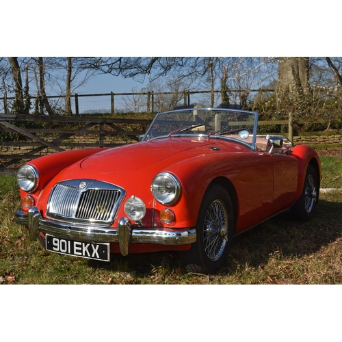 22 - A 1956 MG A Roadster 1500, registration number 901 EKX, Chariot red. The all new MG A was launched a...