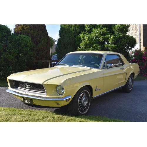 29 - A 1968 Ford Mustang coupé 289 V8, registration number NSC 161F, chassis number 8R01C150713, engine n...