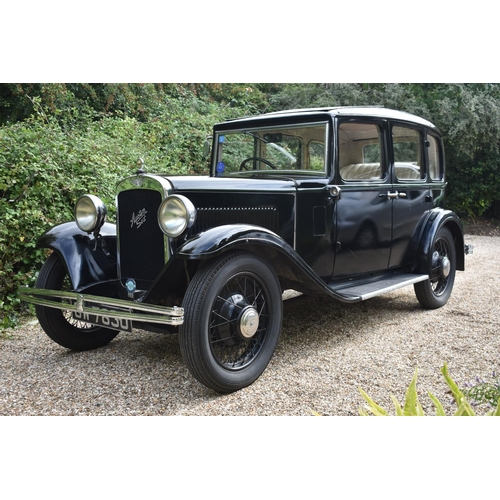 6 - A 1932 Austin 12/6 Harley saloon, registration number GW 7830, chassis number 11423, engine number 1...