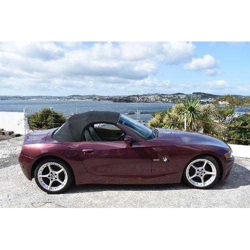 11 - EXTRA LOT:  A 2003 BMW Z4 3.0i convertible, registration number BIJ 7895, chassis number WBABT520001...