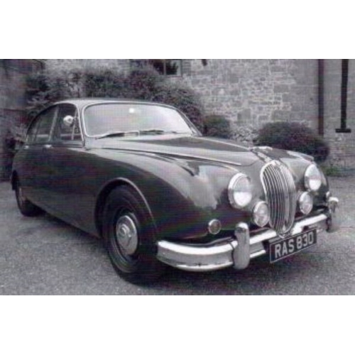 24 - EXTRA LOT: A 1961 Jaguar Mk II 3.8 saloon, registration number RAS 830, RAF blue. This Moss 4 speed ...