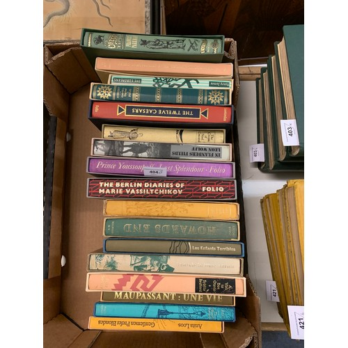 404 - A group of seventeen Folio Society books, including Travel in West Africa, all in slip cases (17) (b...