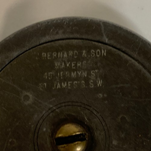 435 - A Bernard fishing reel, another, and an Allcock Gilmour reel, boxed (3)