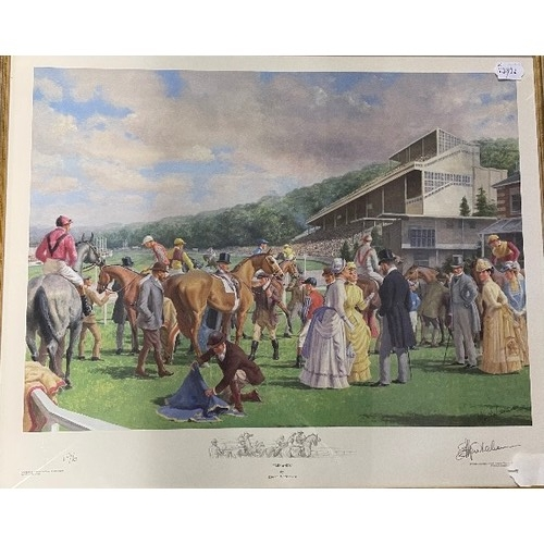 430 - Constance Halford-Thompson, Riding Out, print, titled and signed in pencil, 57 x 78 cm, Edward Morte...