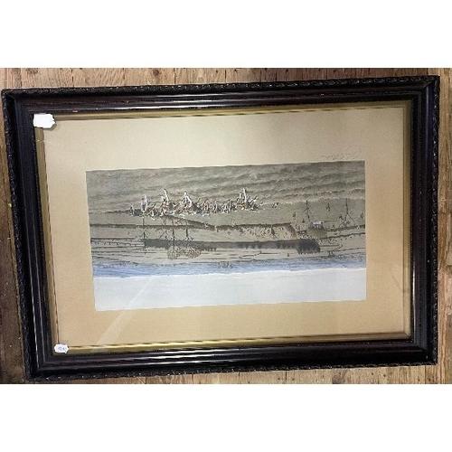 431 - Cecil Aldin (British, 1870-1935), hunting scene, print, signed on mount, 53 x 82 cm