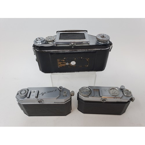 16A - An Exakta camera, Agfa Karat 36 camera and an Agfa camera (3)  Provenance: Part of a vast single own...