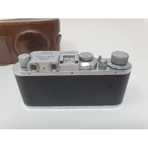 1 - A Leica II camera, serial number 108206, with leather outer case  Provenance:  Part of a vast single...