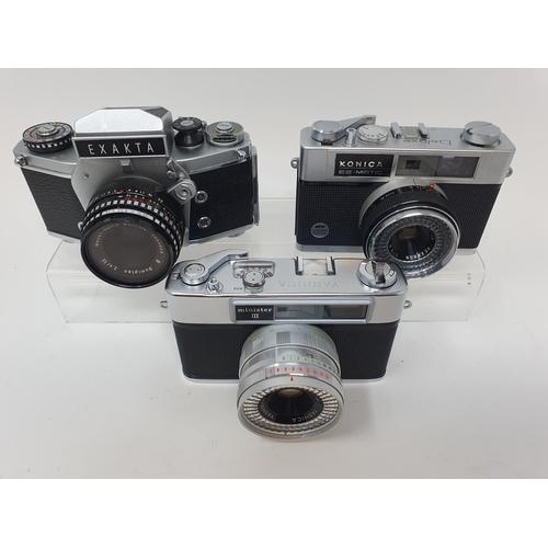 24 - An Exakta VX 1000 camera, a Konica EE-Matic camera and a Yashica Minster III camera (3)  Provenance:...