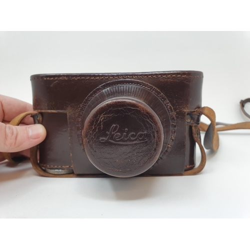 3 - A Leica IIIf camera, serial number 566317, with leather outer case  Provenance:  Part of a vast sing...