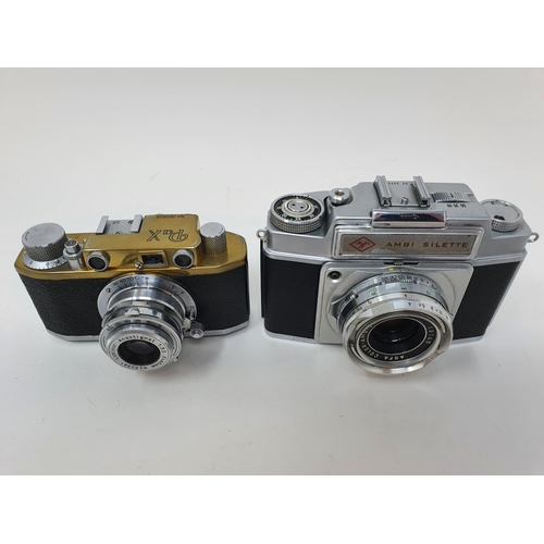 34 - A PaX camera, serial number 36904, and an Agfa Ambi Silette camera (2)  Provenance: Part of a vast s...