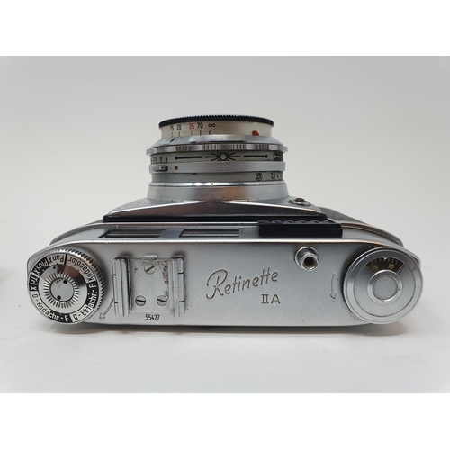 39 - A Kodak Retinette IIA camera and a Braun Super Paxette camera (2)  Provenance: Part of a vast single...