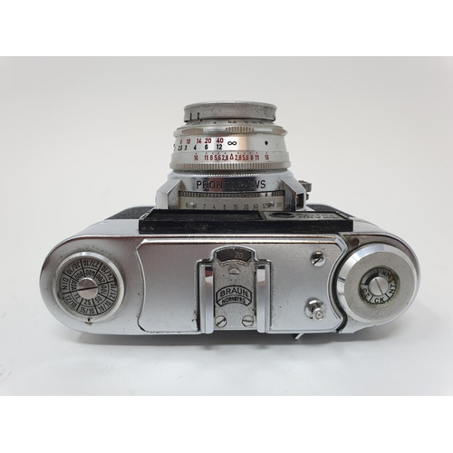 40 - A Braun Paxette camera and a camera (2)  Provenance: Part of a vast single owner collection of camer...