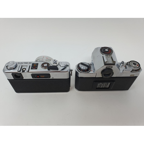49 - A Zeiss Ikon voigtlander camera and a Yashica GSN Electro 35 camera (2)  Provenance: Part of a vast ...
