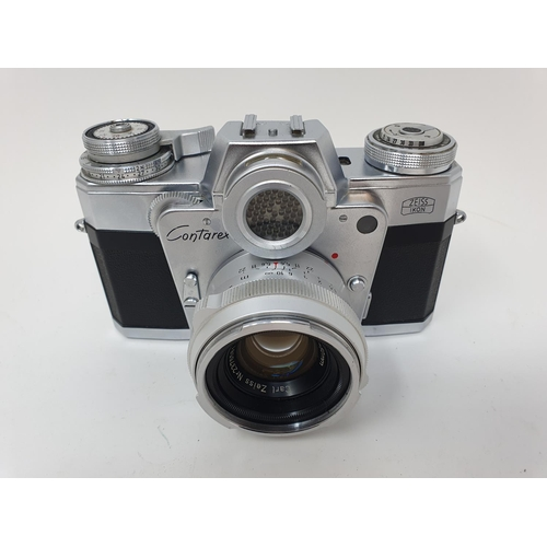 57 - A Zeiss Ikon Contaflex Bullseye camera  Provenance: Part of a vast single owner collection of camera...