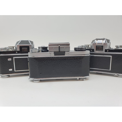 13 - An Exakta Varex 11a camera, a VX 1000 camera body and a Varex IIb camera (3)  Provenance:  Part of a...