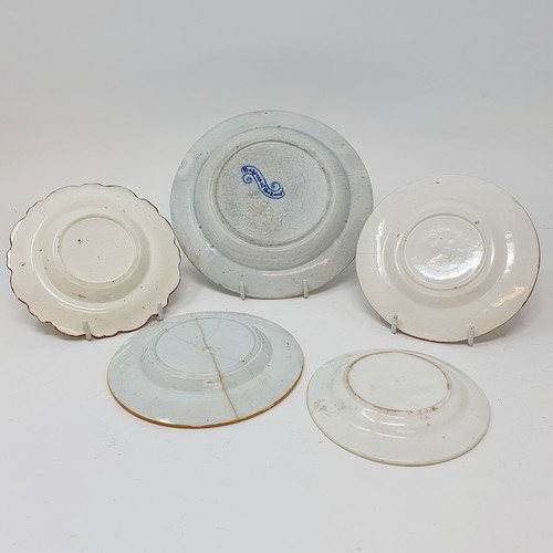 67 - A 19th century nursery plate, Sower, 17 cm diameter, and four other nursery plates (5)