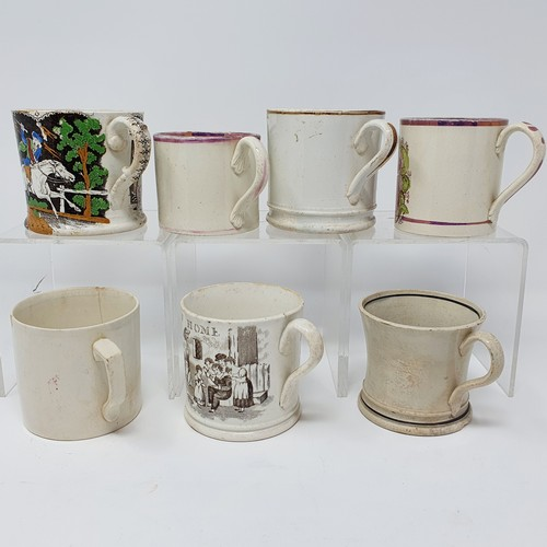 199 - A 19th century nursery mug, and a six other mugs (7)