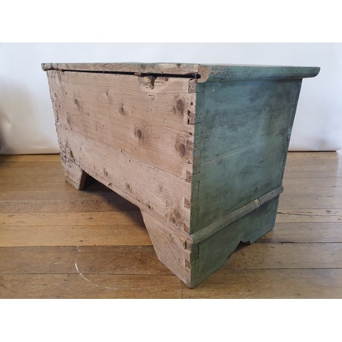 268 - A painted pine trunk, 120 cm wide