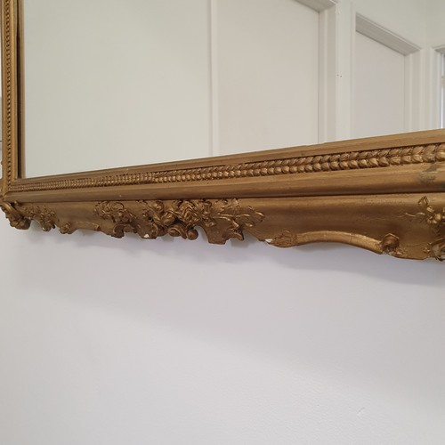 126 - A gilt gesso wall mirror, 104 x 115 cm