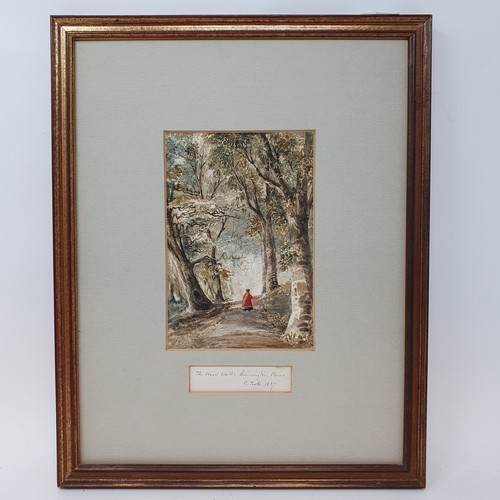 93 - English school, portrait of a young girl, watercolour, 18 x 14 cm, English school, 19th century, lan...