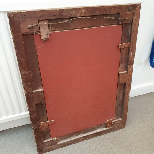 120 - A gilt gesso wall mirror, 88 x 66 cm