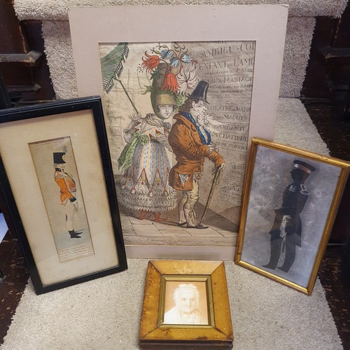 151 - A 19th century print, C. Y. Davies, a boxer, 20 x 14 cm, and various other 19th century and later pr...
