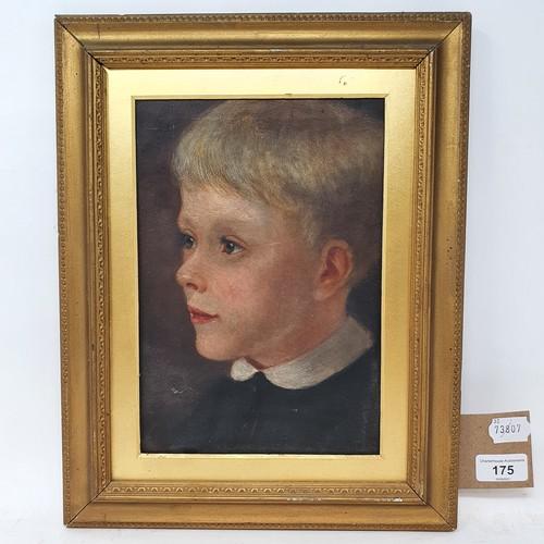 175 - English school, early 20th century, a portrait of a young boy, 26 x 18 cm