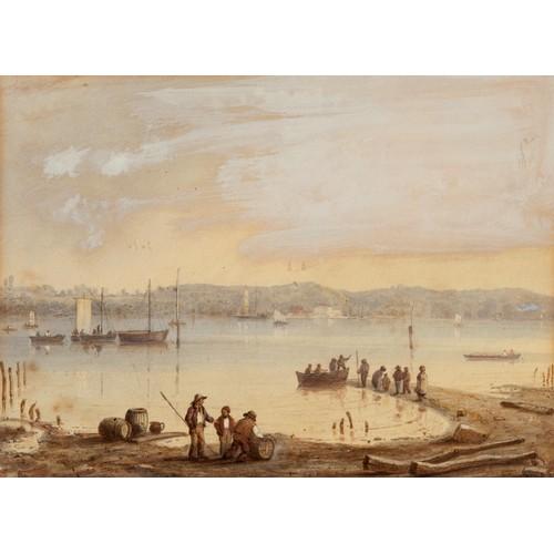 176 - Henry Bernard Chalon (British 1770 - 1849), the Isle of Wight, coastal scene, watercolour and wash, ...