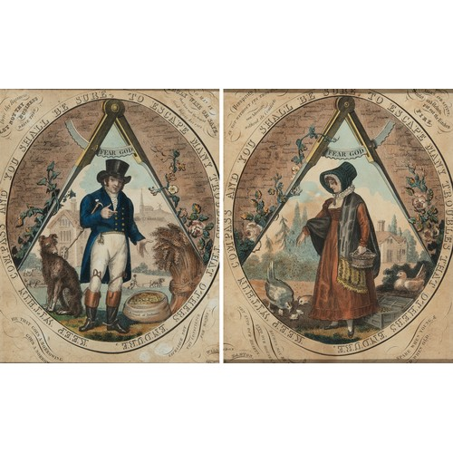 48 - A 19th century print, Keep Within Compass And You Shall Be Sure, To Escape Many Troubles That Others...