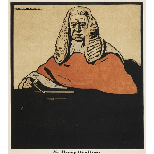 212 - William Nicholson, Lord Roberts, lithograph, 25 x 23 cm, Sir Henry Hawkins, W. E. Gladstone, and H. ...