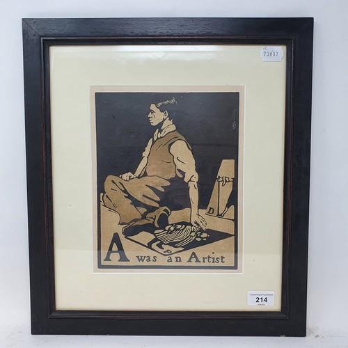 214 - William Nicholson, A was an artist, lithograph, 26 x 21 cm
