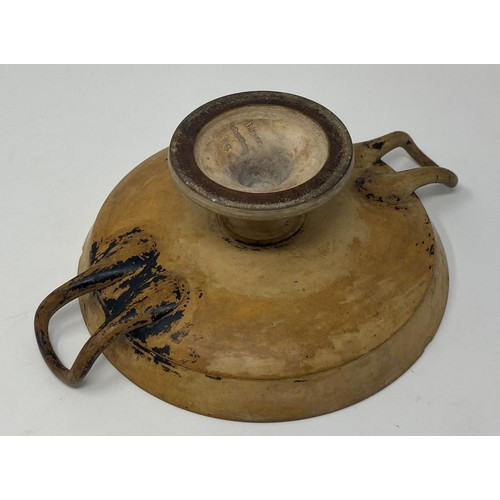 559 - A Greek (possibly Attic) Kylix, with P Ipsen marked inside, thought to be used by Peter Ipsen in Den...