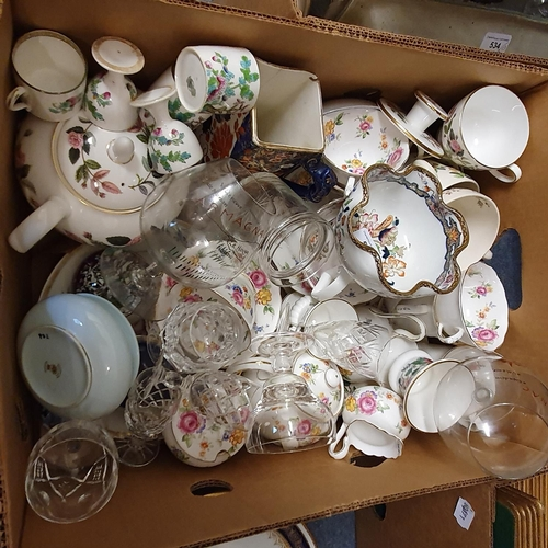 534 - An early 20th century tea set, other ceramics and glassware (5 boxes)