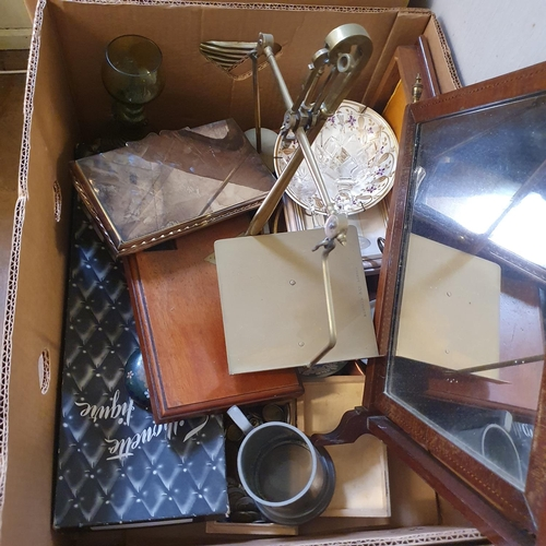 550 - A Grindley's part dinner service, other ceramics and other items (3 boxes)
