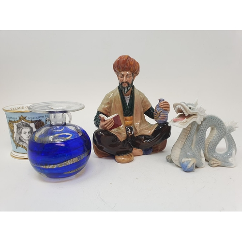 554 - A Royal Doulton figure, HN 8267 and various other ceramics (box)
