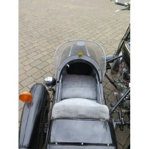 3 - Watsonian GP sidecar with fittings, black, previously attached to a Vincent Rapide