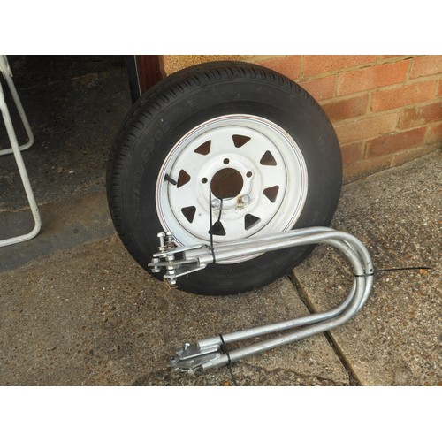 4 - Factory built Paxton three bike galvanised coated steel trailer, fitted with jockey wheel for better...