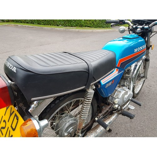 41 - 1981 Honda CB100 N  Being sold without reserve Registration number YYD 121X   Frame number 1017333 E...
