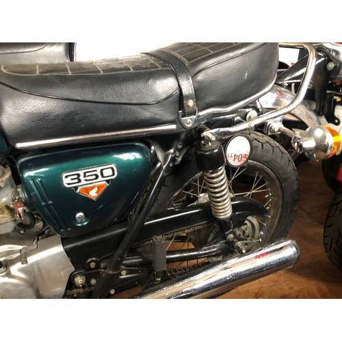 52 - 1972 Honda CB350  Registration number MBD 460K Frame number CB350 503 2016  Engine number CB350 505 ...