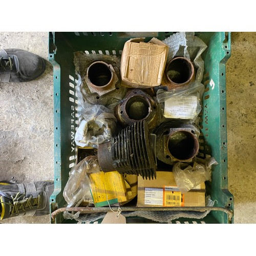 6 - Assorted Velocette spares: Various cylinders and pistons
